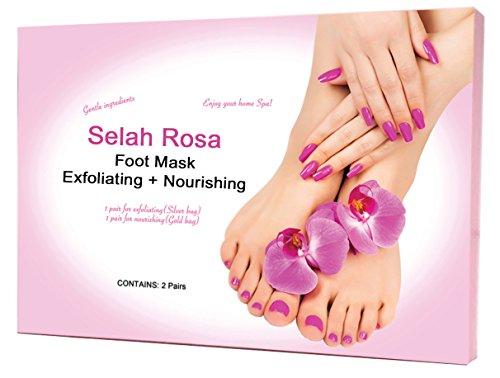 Selah Rosa Foot Peel Mask, Exfoliating Dry, Cracked and Call