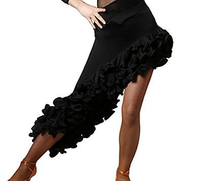 CHAGME Latin Dress High-Grade Screw Skirt Tango Dress Cha Cha Dance Skirts Ballroom Skirt