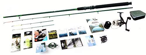 FLADEN SPECIAL - Complete FEEDER LEDGER Fishing Set - Graphite Composite...
