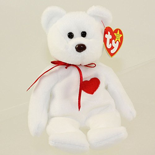 TY Beanie Baby - VALENTINO the BEAR (PVC Pellets Tush for sale  Delivered anywhere in USA