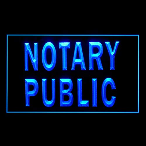 190146 Notary Public Sevice Office Affordable Current Display LED Light Sign