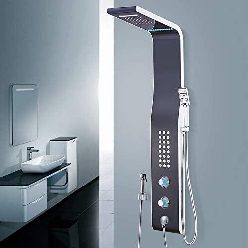 Mampara de ducha Paquete de mezclador de ducha Pantalla de termostato inteligente ducha ducha de baño Ducha de spray,: Amazon.es: Bricolaje y herramientas