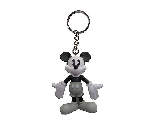 Disney Mickey Mouse - Llavero de PVC, color blanco y negro ...
