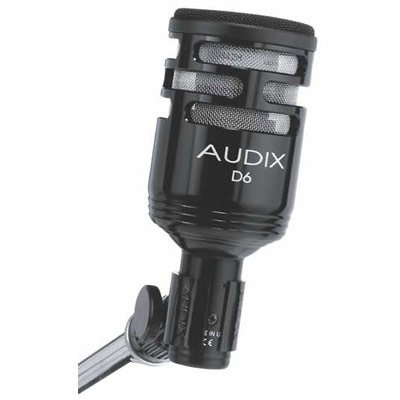 3. Audix D6 Dynamic Microphone, Cardioid