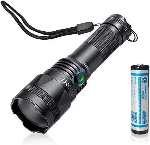 Zoomable LED Flashlight Rechargeable - Lumintop Zoom 1 Pocket-Sized Torch with Super Bright 850 Lumens CREE LED, IP65 Water-Resistant with Memory Function, 18650 Battery Included
