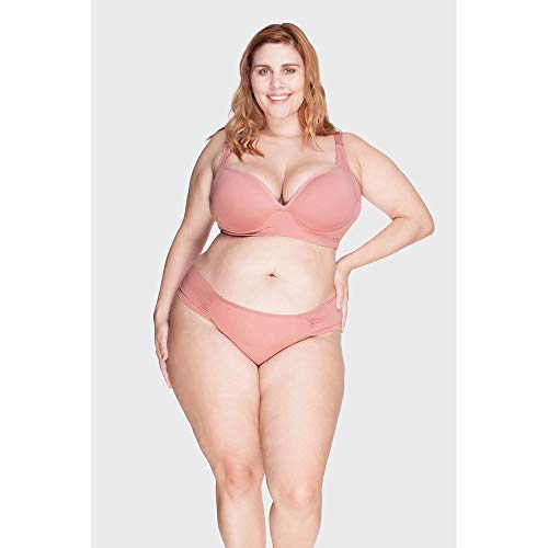 Calcinha Drapeada Plus Size Rosê-52
