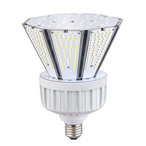 60W LED Garden Corn Light Bulb, 7800lm High Lumen Led Flood Light Bulbs, 5000K Cone Led Bulbs with Mogul E39 & Medium E26 Base (Interchangeable) for Post Top Wall Lantern High Bay Warehouse Garage Can