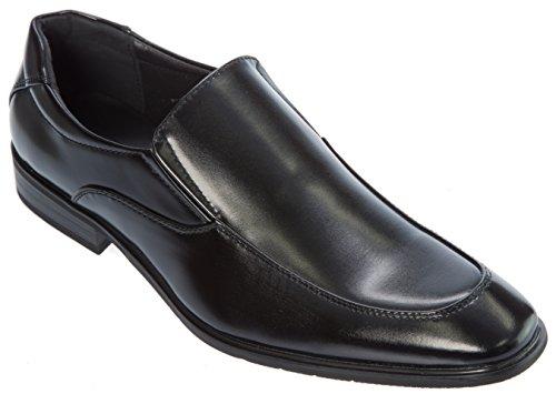 Alberto Fellini Mens Dagdrivare-skor Slip-on Lackläder Formell Affärs Klänning Eller För Mode Svart