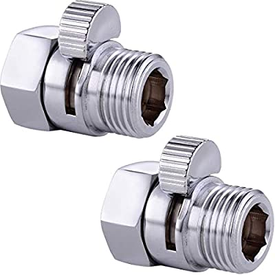 Water Shower Flow Control Valves Saving Head With Push Button And Shut Off,