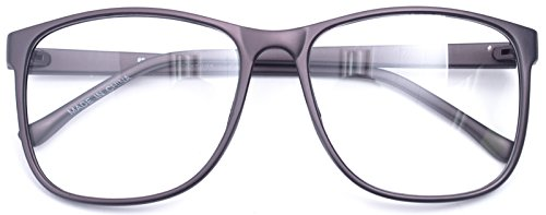 Large Nerd Thin Eyeglasses Vintage Fashion Inspired Geek Clear Lens Horn Rimmed (chocolate 9290, Clear)