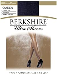 9d0b5ef49e6 Women s Plus-Size Queen Ultra Sheer Control Top Pantyhose 4411 · Berkshire