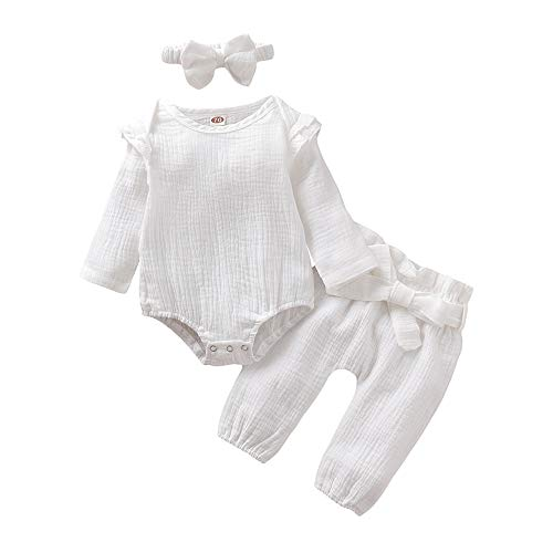 Infant Clothes Bodysuit Headband Toddler
