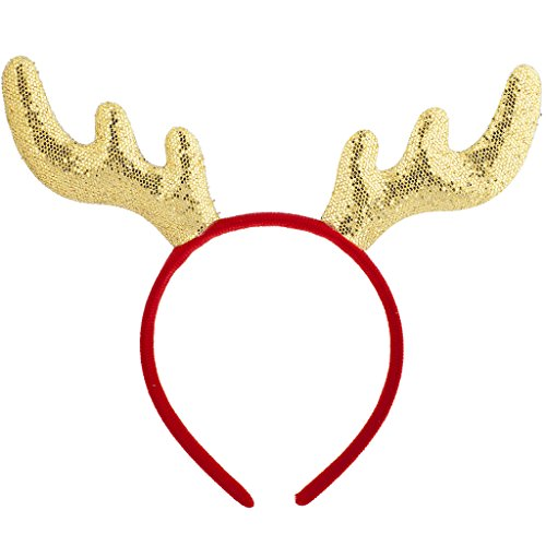 Price comparison product image Lux Accessories Christmas Xmas Ugly Sweater Party Favor Reindeer Headband