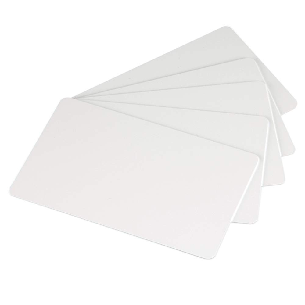 Premium White Blank Plastic CR80 30 Mil PVC Cards for ID Badge Printers 500 Pack by ID Zone