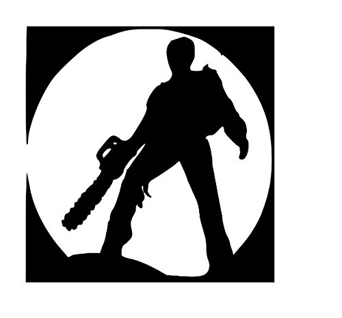 Evil Dead Ash Chainsaw Halloween Horror Vinyl Decal Bumper Computer Sticker Cling Scary Halloween]()