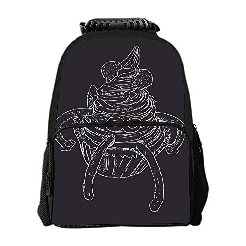 SARA NELL School Backpack Monster Cupcake Spooky For