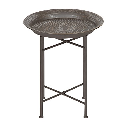 Kate and Laurel 212006 Mahdavi End Table, Pewter