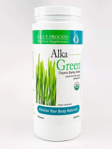 Alka-Green Powder 10 OZ by Morter HealthSystem B.E.S.T. Process Alkaline Organic Barley Grass Naturally Chelated Colloidal Alkalizing Minerals for Improved Digestion, Energy Mood