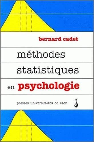 Livre gratuits en ligne Méthodes statistiques en psychologie. Cours et Exercices pdf ebook