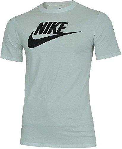 NIKE Mens Futura Icon T-Shirt White/Black 624314-104 Size Medium