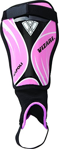 Vizari Napoli Shin Guard, Pink/Black, (Pee Wee Soccer Shin Guards)