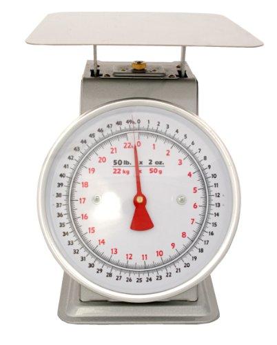 Dial Scale Platform - Zenport AZD50 50 pound platform dial scale, 50-lbs, white