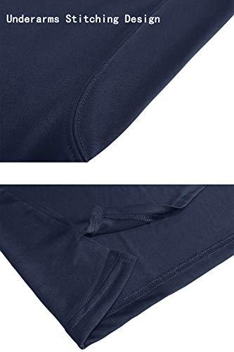 KEFITEVD Polo à manches longues pour homme avec poche zippée 6