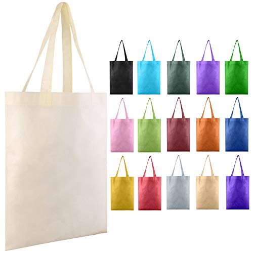 (25 PACK - Wholesale Non-Woven Tote Bags, Convention Bags, Promotional Bags, NTB10 (MIXED))