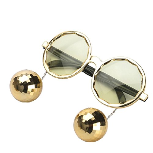 Ponce Fashion Shiny Hanging Disco Ball Glasses Creative Sunglasses Birthday Party - Disco Glasses