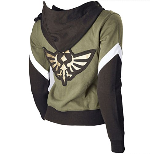 [The Legend of Zelda Link Cosplay Costume Jacket Sweatshirt Hyrule Seal Hoodie Large] (Cosplay Costume Zelda)