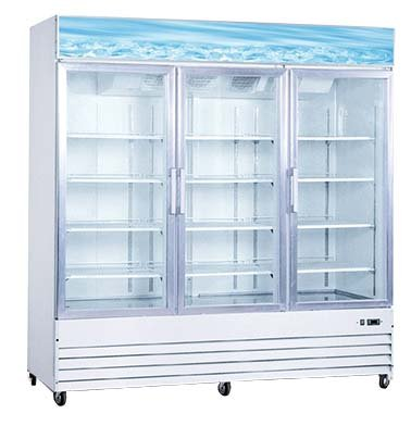 3 door glass cooler - 3