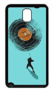 Fit Case with Abstract Painting Record Breaker Printed Plastic and TPU Back Case Cover for Samsung Galaxy Note 3 n900