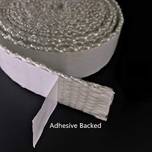 Adhesive Backed Wood Stove Door Gasket,Fiberglass Rope Seal,Flat 1/8''X 1.2'' Wide X 10 Foot/roll by CCUFO (Image #3)