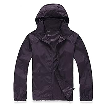 Lanbaosi Women's Lightweight Jacket Uv Protect+Quick Dry Windproof Skin Coat 3X-Large Purple