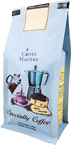 Coffee Masters Flavored Coffee, Hazlenut, Ground, 12-Ounce Bags (Pack of 4)