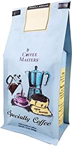 Coffee Masters Gourmet Coffee, Italian Espresso Blend Decaffeinated, Whole Bean, 12-Ounce Bags (Pack of 4)