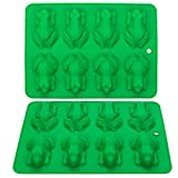 Webake Chocolate Molds Frog Candy Mold 2 Pack