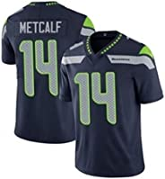Seahawks Metcalf # 14 Men's Rugby Jersey USA Football Sportswear, Suitable for Boys and Girls Sports C