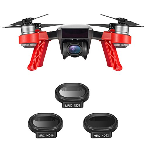 Neewer 3 Pieces Drone Neutral Density ND Filter Kit for DJI SPARK Quadcopter, Includes Multi-coated MC-16 HD ND8, ND16, ND32 Filter with Carrying Case