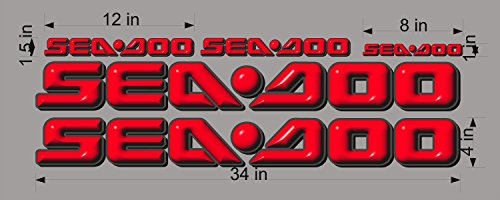 SEA-DOO-3D-LOGO-4x34-DECAL-SET-GRAPHIC-STICKER-PACKAGE, REPLACEMENT (Decal Replacement Set)