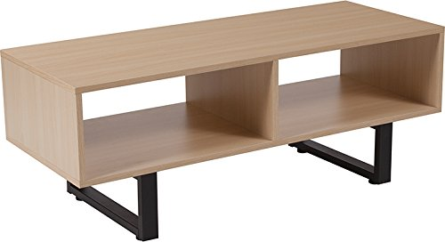 Beech Entertainment Center - Contemporary Design Beech Wood Grain Finish TV Stand and Media Console