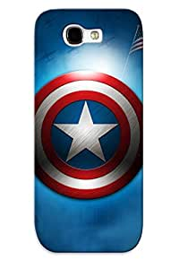 Premium Snap-on Captain America Logo Case For Galaxy Note 2 Series
