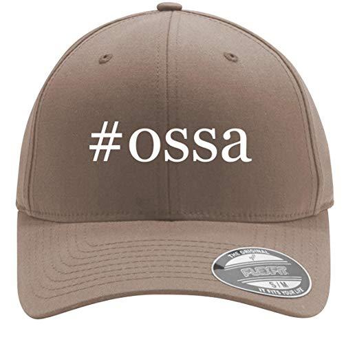#ossa - Adult Men's Hashtag Flexfit Baseball Hat Cap, Khaki, Small/Medium