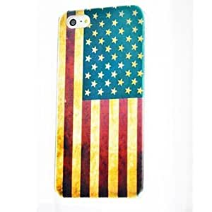 SJTThe United States Flag Pattern Polycarbonate Hard Cases for iPhone 4/4S , Multicolor