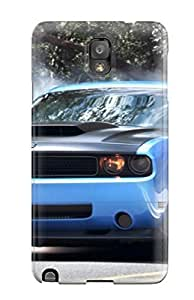 Premium Durable Smoke Coming Out Blue Car Tires Fashion Tpu Galaxy Note 3 Protective Case Cover