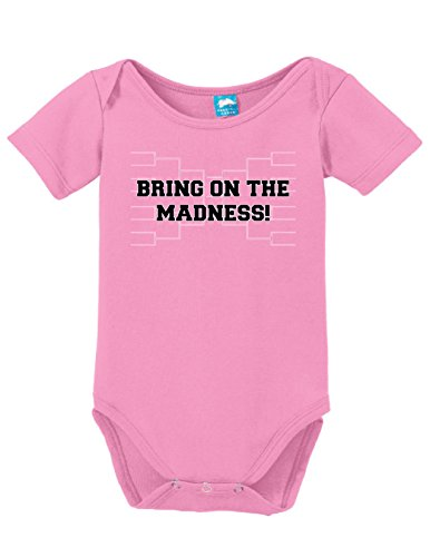 - Bring On The Madness Printed Infant Bodysuit Baby Romper Pink 6-12 Month