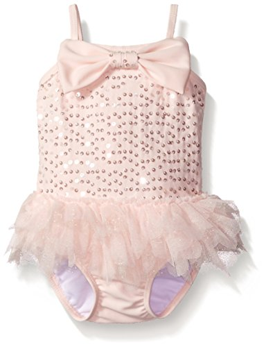 kate-mack-baby-girls-twinkle-toes-baby-girls-one-piece-swimsuit-with-skirt-pink-12-months