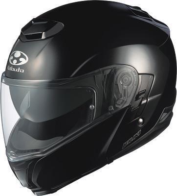 Kabuto XF-3-74-1200S Ibuki Modular Helmet , Distinct Name: Metallic Black, Gender: Mens/Unisex, Primary Color: Black, Helmet Type: Modular Helmets, Helmet Category: Street, Size: Sm