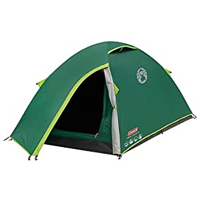 Coleman Tent Kobuk Valley 2, trekking tent 2 person with BlackOut Bedroom Technology, Festival Essential, super lightweight Dome Tent, 100% waterproof Camping Tent with sewn in groundsheet