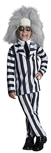 Beetlejuice Halloween Costumes (Rubie's Costume Beetlejuice Deluxe Child Costume,)
